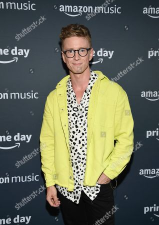Co-host Tyler Oakley arrives at Amazon Music's Prime Day concert at the Hammerstein Ballroom, in New York