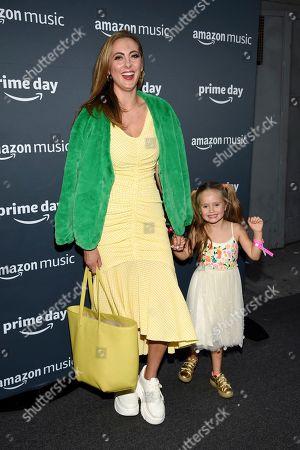 Eva Amurri, Marlowe Mae Martino. Actress Eva Amurri and her daughter Marlowe Mae Martino attends Amazon Music's Prime Day concert at the Hammerstein Ballroom, in New York