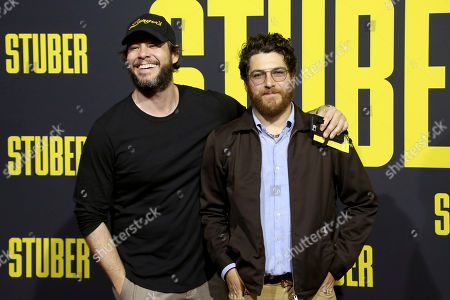 "Ike Barinholtz, Adam Pally. Ike Barinholtz, left, and Adam Pally attend the LA Premiere of ""Stuber"" at the Regal LA Live, in Los Angeles"
