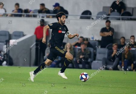 Los Angeles FC forward Carlos Vela (10) in actions during a U.S. Open Cup quarterfinals soccer match between Los Angeles FC and Portland Timbers in Los Angeles, . The Timbers won 1-0