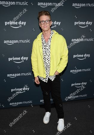 Tyler Oakley participates in Amazon Music's Prime Day concert at the Hammerstein Ballroom, in New York