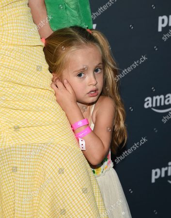 Actress Eva Amurri's daughter Marlowe Mae Martino attends Amazon Music's Prime Day concert at the Hammerstein Ballroom, in New York