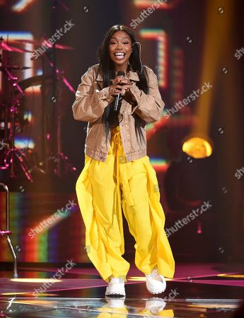 SZA performs at Amazon Music's Prime Day concert at the Hammerstein Ballroom, in New York