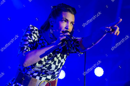 Stock Image of Caro Emerald performs with her band during VeszpremFest festival in Veszprem, western Hungary, 10 July 2019 (issued 11 July 2019).