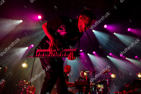 Stock Picture of English keyboardist Stephen Large performs during the concert of Dutch singer Caro Emerald at VeszpremFest festival in Veszprem, western Hungary, 10 July 2019 (issued 11 July 2019).