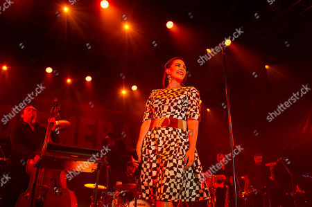 Caro Emerald performs with her band during VeszpremFest festival in Veszprem, western Hungary, 10 July 2019 (issued 11 July 2019).