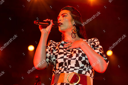Stock Photo of Caro Emerald performs with her band during VeszpremFest festival in Veszprem, western Hungary, 10 July 2019 (issued 11 July 2019).