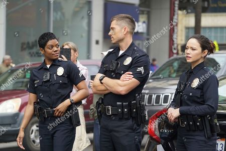 Afton Williamson as Talia Bishop, Eric Winter as Tim Bradford and Melissa O'Neil as Lucy Chen