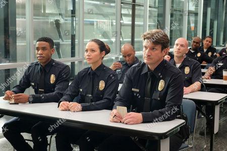 Titus Makin Jr as Jackson West, Melissa O'Neil as Lucy Chen and Nathan Fillion as John Nolan