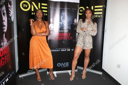 Stock Picture of Dominique Perry and Tamala Jones