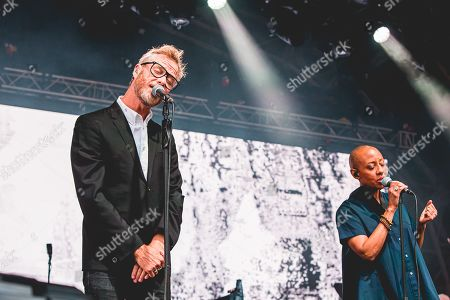 Editorial photo of The National in concert at Castlefield Bowl, Manchester, UK - 10 Jul 2019