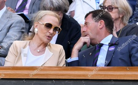 Princess Michael of Kent and Phillip Brook, AELTC Chairman, in the Royal Box on Centre Court