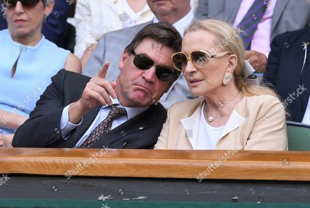 Princess Michael of Kent in the Royal Box on Centre Court