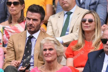 David Beckham and Holly Branson in the Royal Box on Centre Court