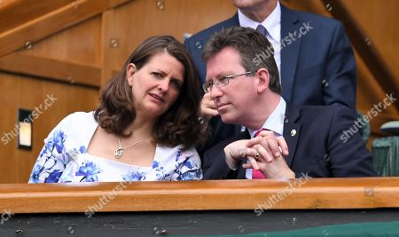 Jeremy Wright in the Royal Box on Centre Court