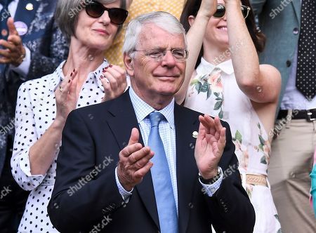 Sir John Major in the Royal Box on Centre Court