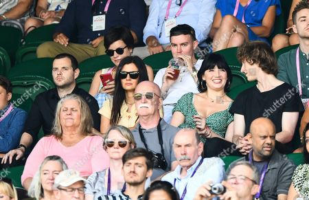Mike Skinner, Daisy Lowe and Cameron McMeikan on Centre Court
