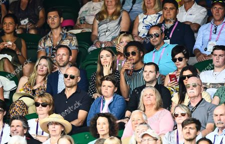 Xenia Tchoumitcheva, Mark Strong, Mike Skinner and Lilly Allen on Centre Court