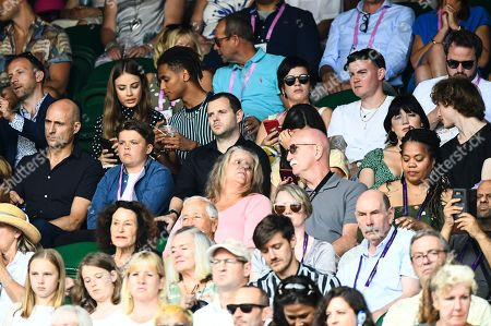 Xenia Tchoumitcheva, Mark Strong, Mike Skinner, Lilly Allen, Mike Skinner, Daisy Lowe and Cameron McMeikan on Centre Court