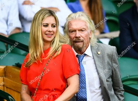 Sir Richard Branson and Holly Branson in the Royal Box on Centre Court