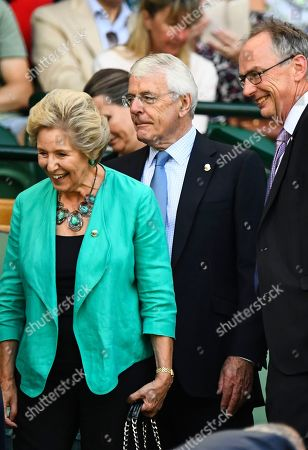 Sir John Major and Norma Major in the Royal Box on Centre Court