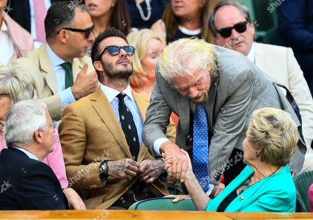 Sir Richard Branson greets Sir John Major and Norma Major