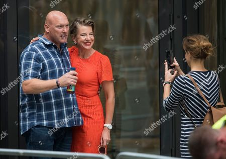 Katie Hopkins joins Supporters of activist Tommy Robinson, as they gather outside The Old Bailey in London ahead of his sentencing for contempt of court