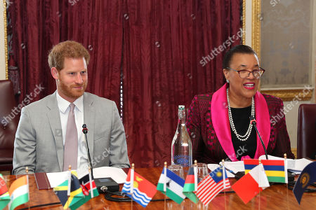 Editorial photo of Commonwealth Youth roundtable at Marlborough House , London, UK - 11 Jul 2019