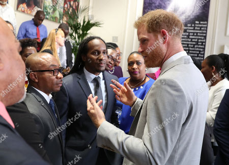Prince Harry in his role as Commonwealth Youth Ambassador at Marlborough House for a Commonwealth Youth roundtable