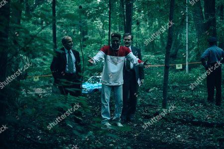 Stock Picture of Bruce MacVittie as Detective Hartigan, Jharrel Jerome as Korey Wise and William Sadler as Michael Sheehan