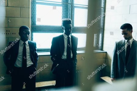 Caleel Harris as Young Antron McCray, Ethan Herisse as Young Yusef Salaam and Marquis Rodriguez as Young Raymond Santana
