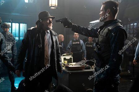 Donal Logue as Harvey Bullock and Shane West as Eduardo Dorrance/Bane