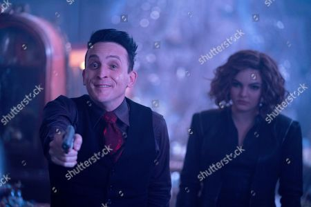 Robin Lord Taylor as as The Penguin and Camren Bicondova as Selina Kyle