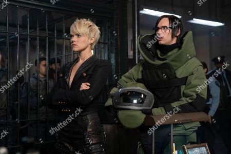 Erin Richards as Barbara Kean and Cory Michael Smith as Edward Nygma