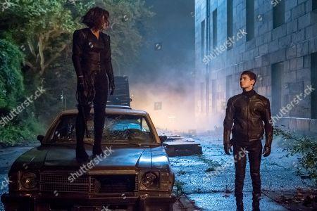Stock Photo of Camren Bicondova as Selina Kyle and David Mazouz as Bruce Wayne