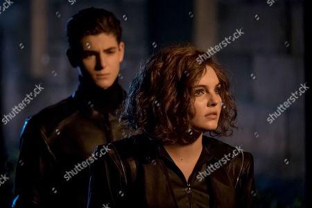 David Mazouz as Bruce Wayne and Camren Bicondova as Selina Kyle