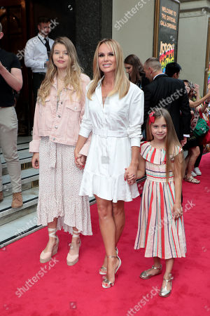 Amanda Holden with daughters Alexa Louise Florence Hughes and Hollie Rose Hughes