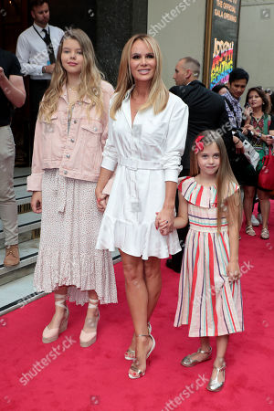 Stock Image of Amanda Holden with daughters Alexa Louise Florence Hughes and Hollie Rose Hughes