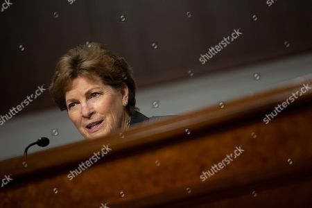 United States Senator Jeanne Shaheen (Democrat of New Hampshire) speaks at the Senate Armed Services Committee hearing on Capitol Hill as they consider the nomination