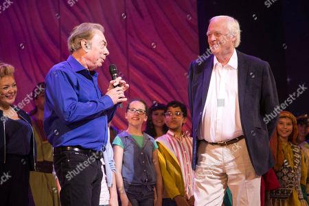 Sir Andrew Lloyd Webber (Music) and Tim Rice (Lyrics) during the curtain call