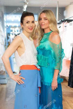 Lara Bohinc (L) and Annabelle Wallis