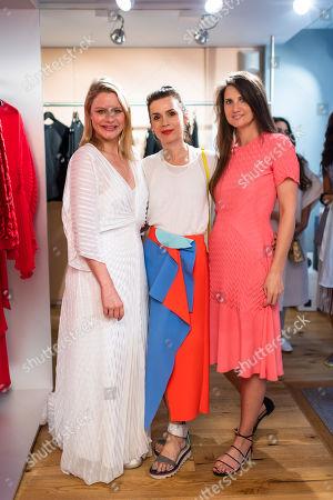 Stock Image of (L-R) Georgia Hardinge, Lara Bohinc and Davina Catt