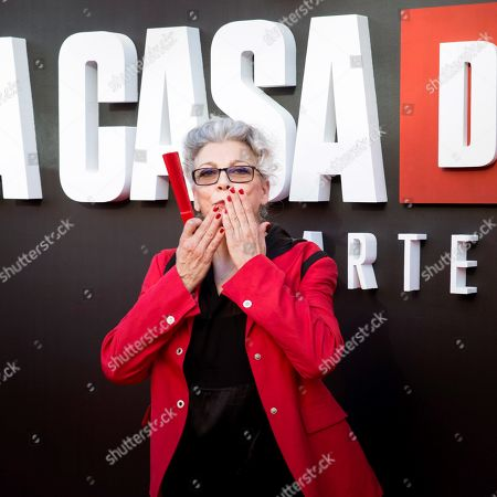Kiti Manver poses upon arrival at the presentation of the third season of 'La Casa De Papel' (titled 'Money Heist' in English), at the Callao Cinema, in Madrid, Spain, 11 July 2019.