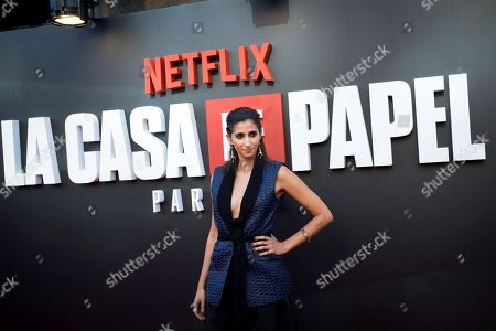 Stock Picture of Alba Flores poses upon arrival at the presentation of the third season of 'La Casa De Papel' (titled 'Money Heist' in English), at the Callao Cinema, in Madrid, Spain, 11 July 2019.