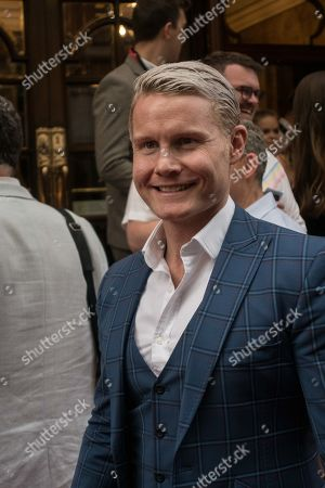 Rhydian Roberts attends the press night performance