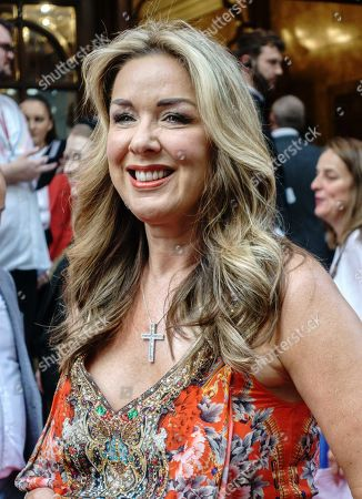 Claire Sweeney attends the press night performance
