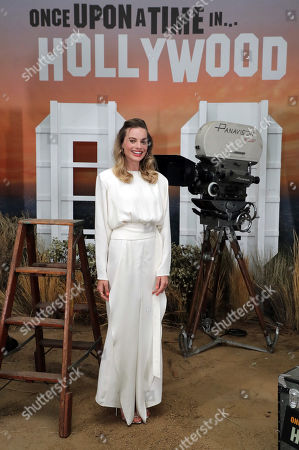 Beverly Hills, CA - Margot Robbie seen at Sony Pictures ONCE UPON A TIME IN HOLLYWOOD Photo Call in Beverly Hills, CA