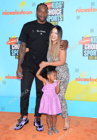 Kawhi Leonard, wife Kishele Shipley and daughter