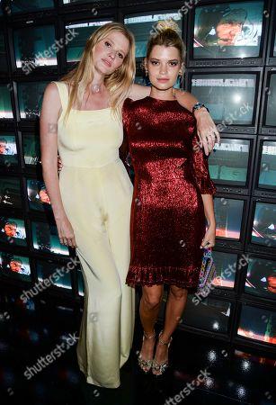 Lara Stone and Pixie Geldof