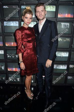 Stock Image of Pixie Geldof and George Barnett
